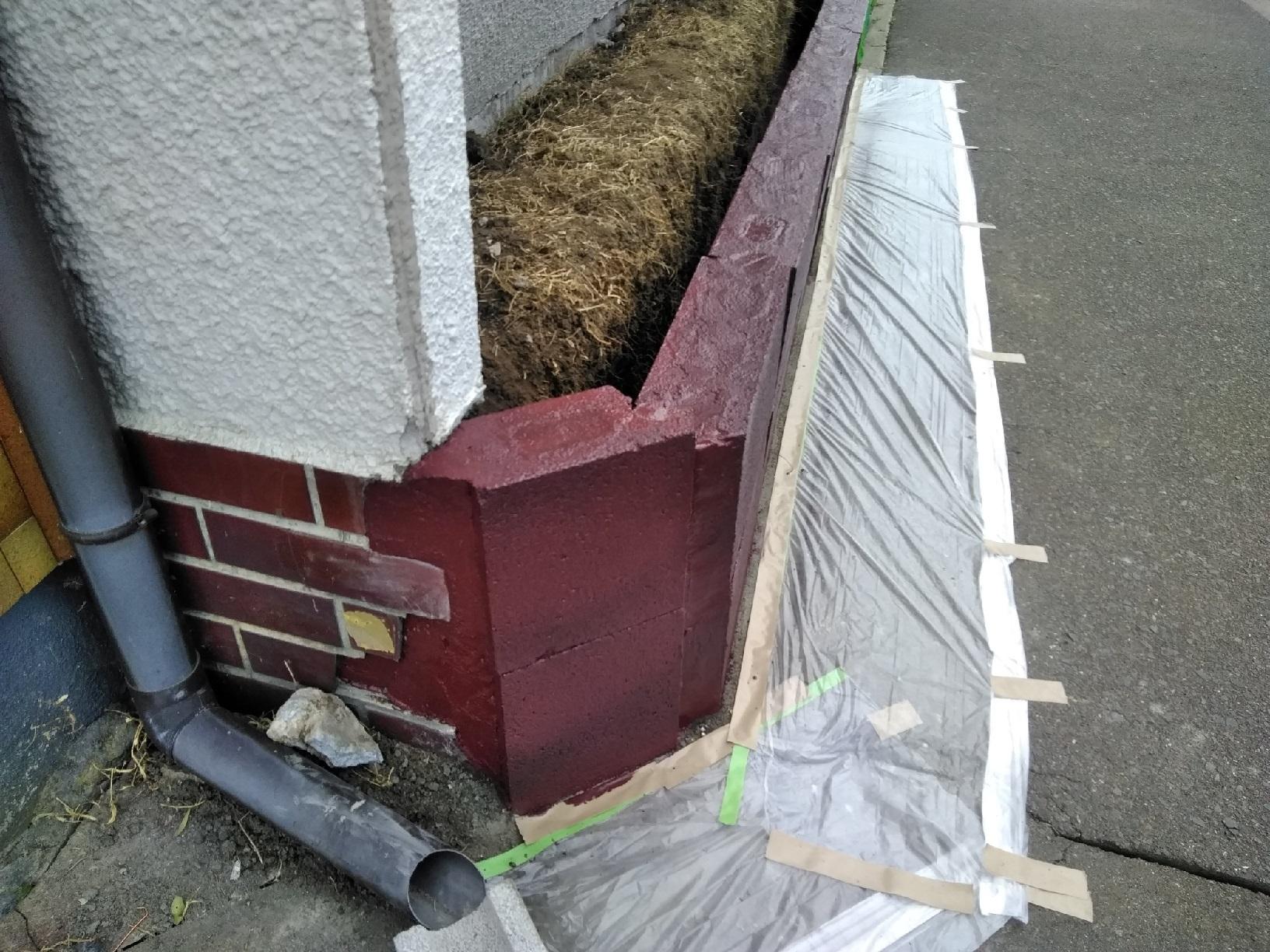 治水町K様邸 花壇 ブロック塗装6