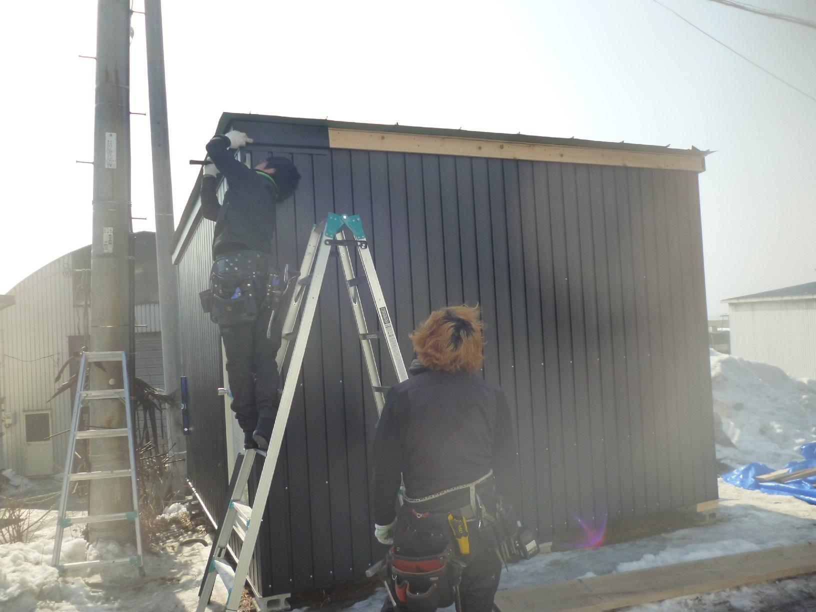 釧路町老者舞 物置 施工前現状1