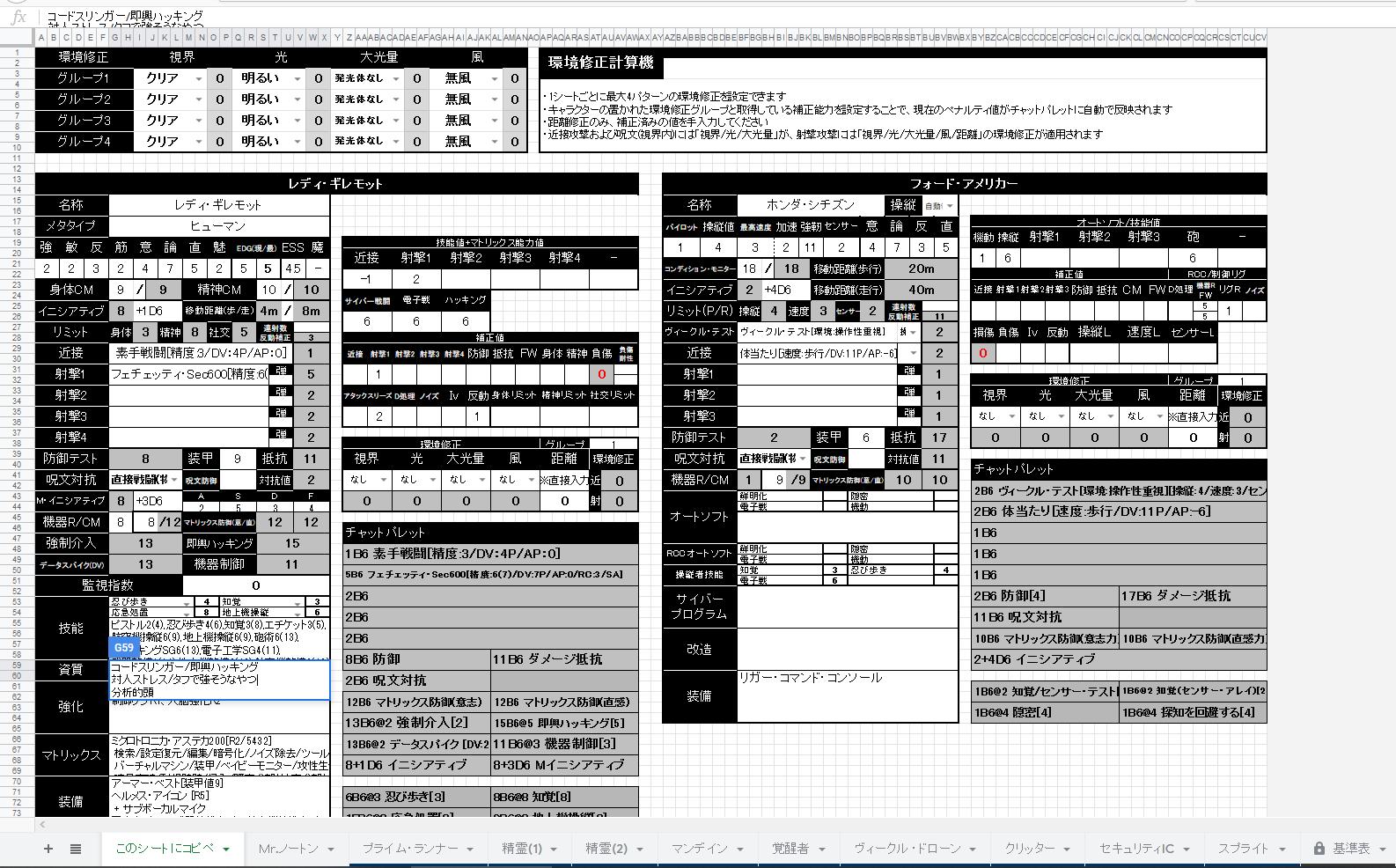 戦闘管理シートSS01