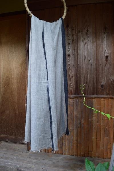 カシミヤ手織りストール(大判)