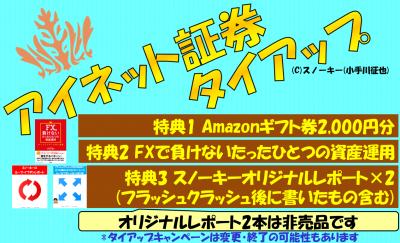 アイネット証券タイアップ2019年7月FC2ブログアマゾンギフト券