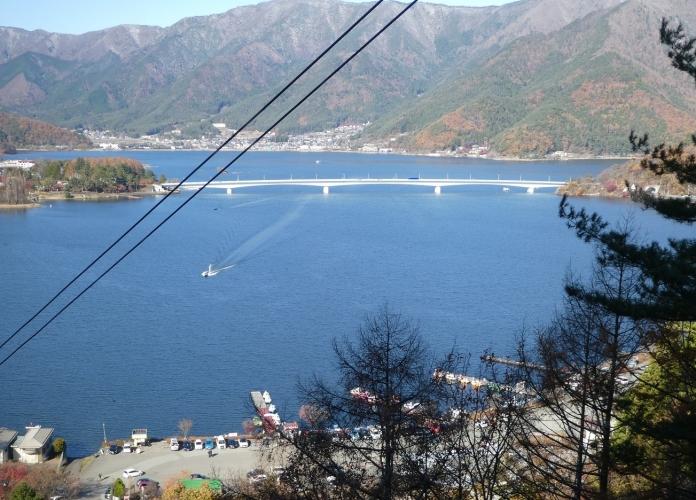 河口湖富士山パノラマロープウェイからの景色