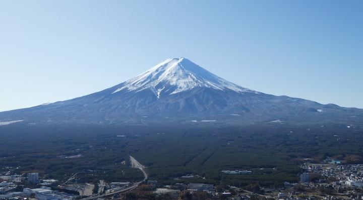 天上山山頂から見る富士山