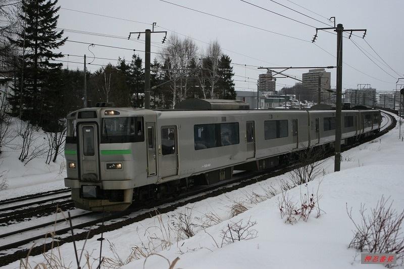 2760M 735系電車A-101 札幌発苫小牧行 20200222