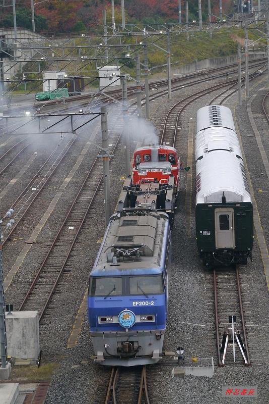 DE10-1118+シキ800+EF200-2 20191124 京都鉄道博物館