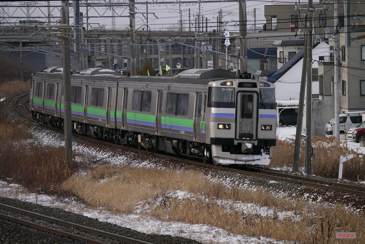 3163D 普通 手稲発江別行 201系気動車 20200102