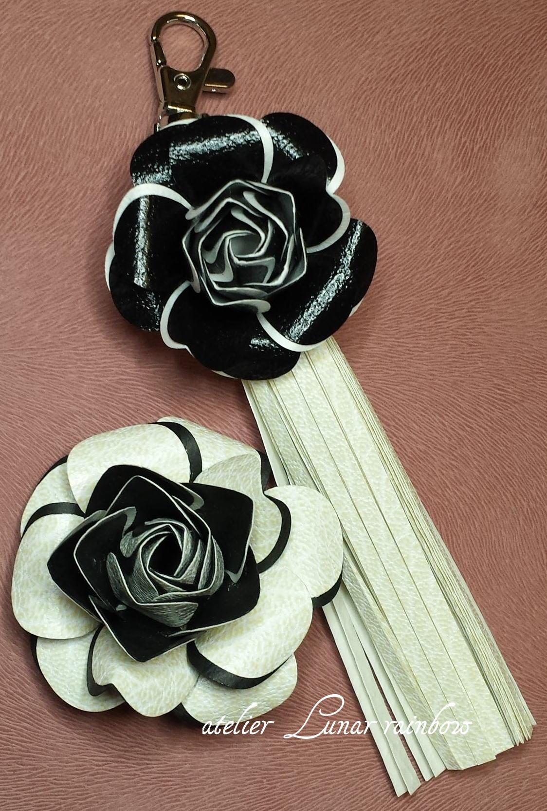 スキバルで作る薔薇のブローチとチャーム(ロゴ入り)
