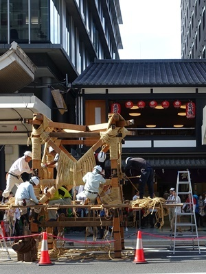 祇園祭鉾建て1907