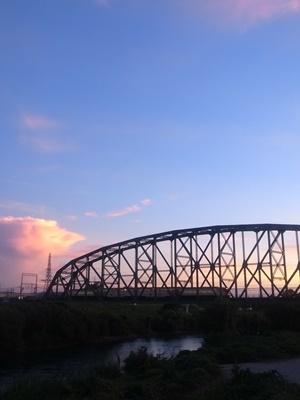 夕焼け鉄橋1909