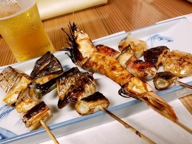 魚介串焼き♪
