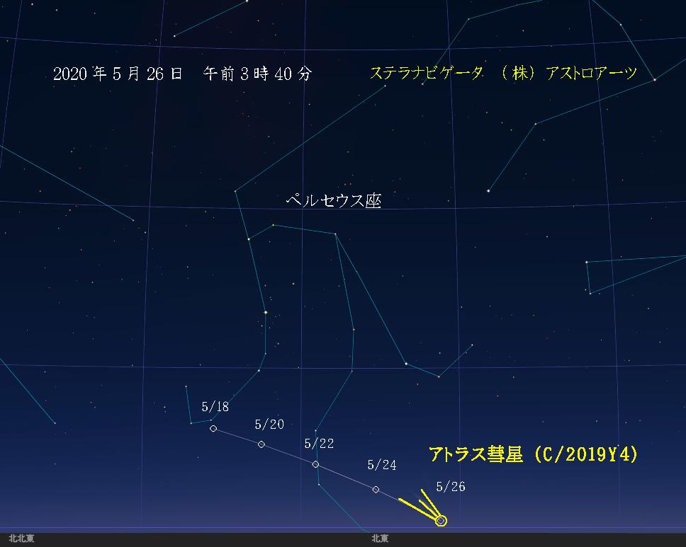 星図 2020年5月26日 午前3時40分