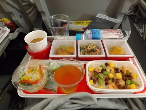 2016-06 往き機内食 混ぜご飯