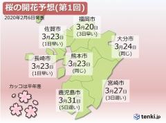 2020 桜開花予想 日本気象協会
