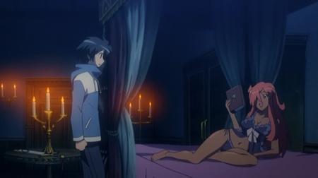 ゼロの使い魔1期 キュルケの夜這いシーン下着姿ブラパンツ18