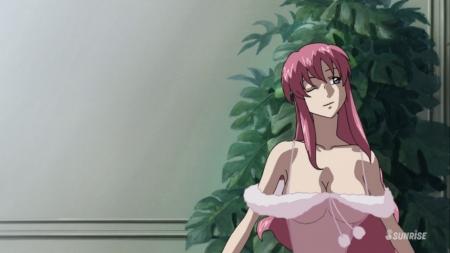 ガンダムSEED DESTINY HDリマスター版 ミーア・キャンベルのネグリジェ姿夜這いシーン胸裸ヌード75