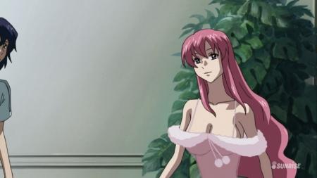 ガンダムSEED DESTINY HDリマスター版 ミーア・キャンベルのネグリジェ姿夜這いシーン胸裸ヌード77