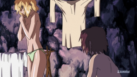 ガンダムSEED DESTINY HDリマスター版 ステラ・ルーシェの胸裸ヌードパンツ91