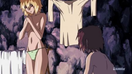 ガンダムSEED DESTINY HDリマスター版 ステラ・ルーシェの胸裸ヌードパンツ93