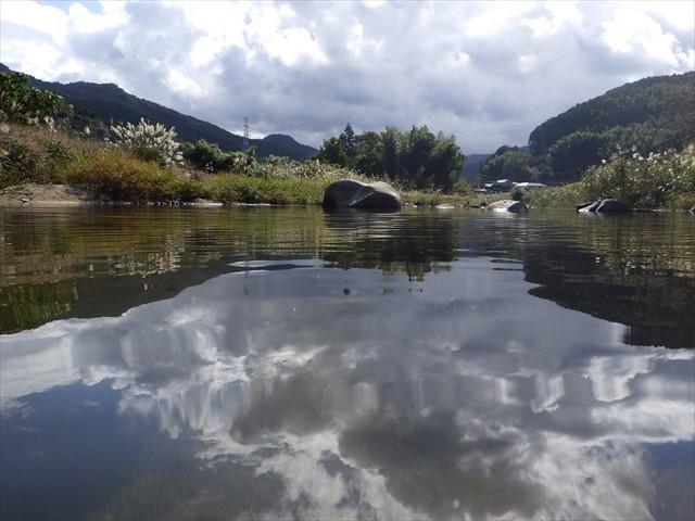 秡川に入り込んで撮影