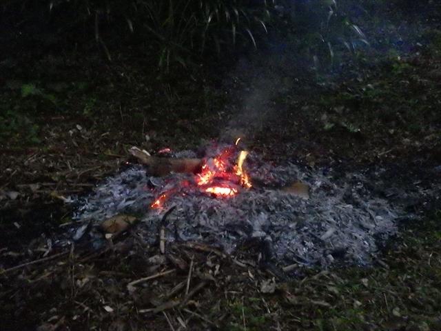 竹を燃やした-2