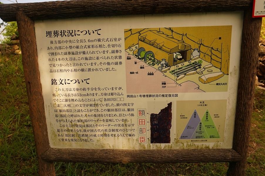 09_岡田山1号墳石室解説板