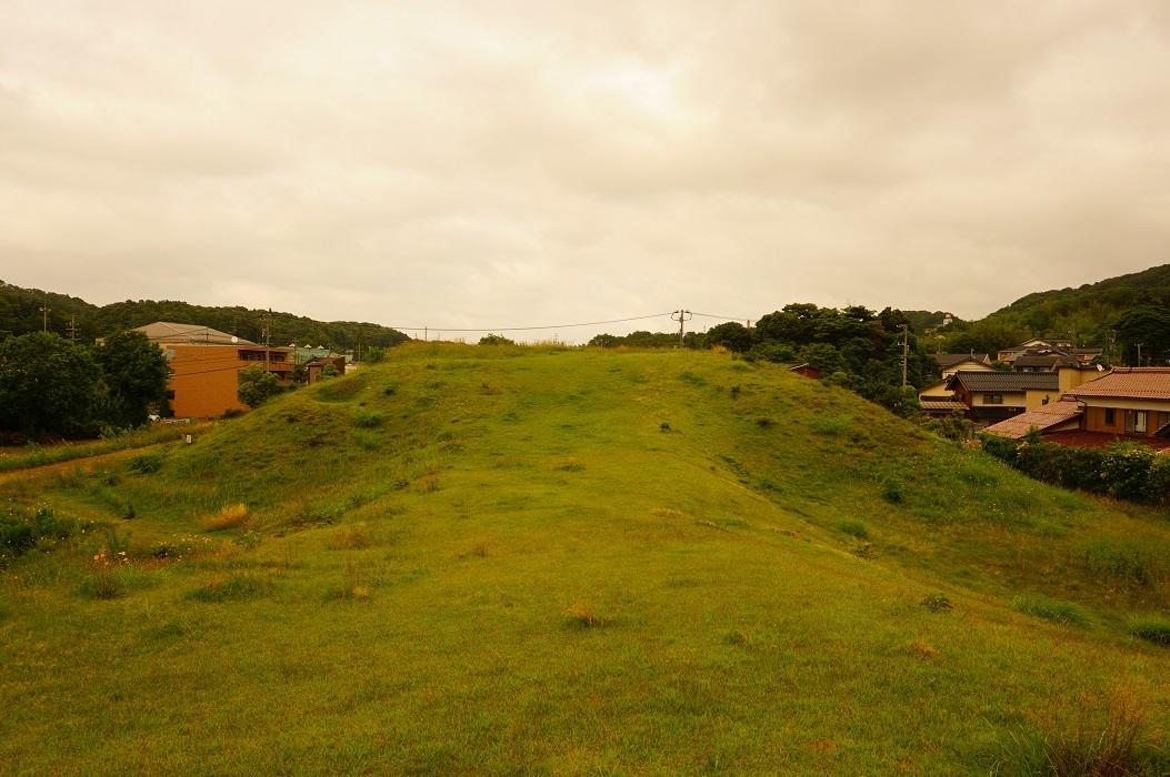 11 山代二子塚古墳 前方部上から見た後方部