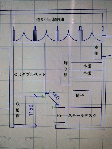 老人室平面図