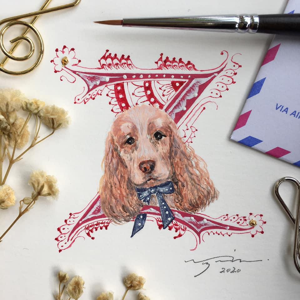 犬肖像画ゼルダ