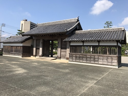 徳島城 鷲の門a