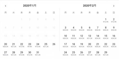 エアアジアX 名古屋⇒バンコク線料金