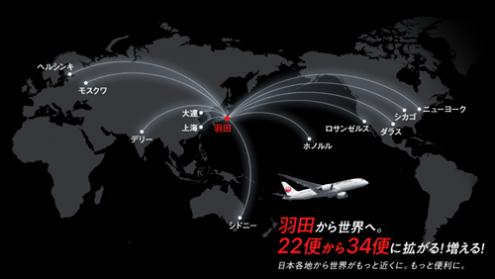 JAL国際線羽田発着便運航開始