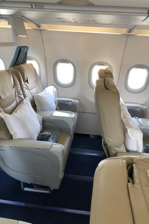 フィリピン航空ビジネスクラスシート