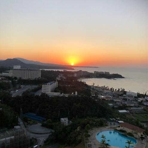 オーシャンから眺める夕日