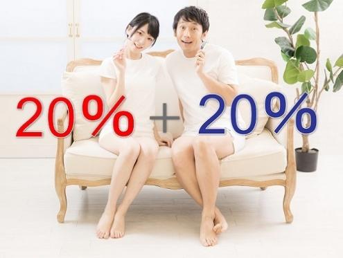 20%還元を組み合わせて40%