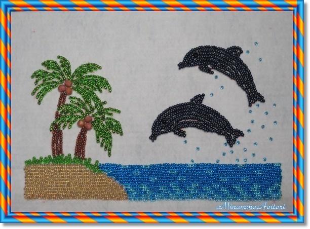イルカとヤシの木2