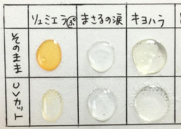 レジン黄変比較拡大1