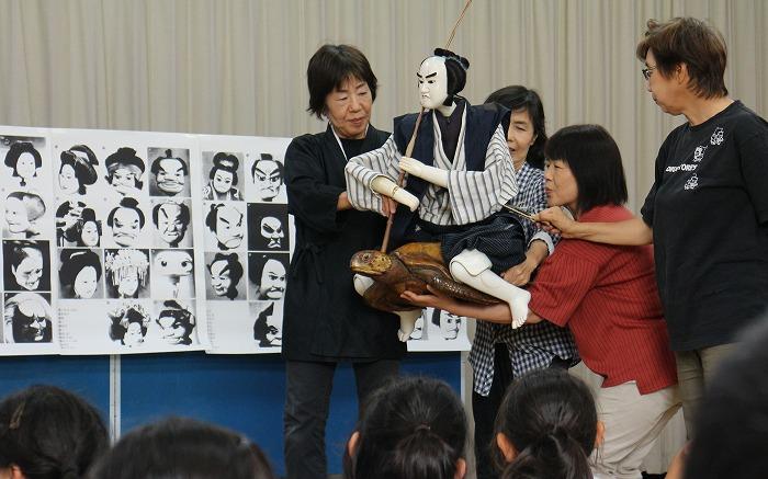 浦島太郎の人形を使って亀も 1 6 28