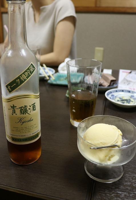 貴醸酒を掛けて食べるアイス 1 8 7
