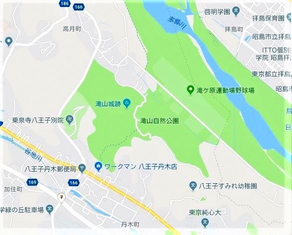☆地図 滝山城跡