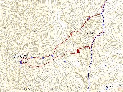 上川岳log