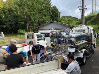 畑 水の供給車