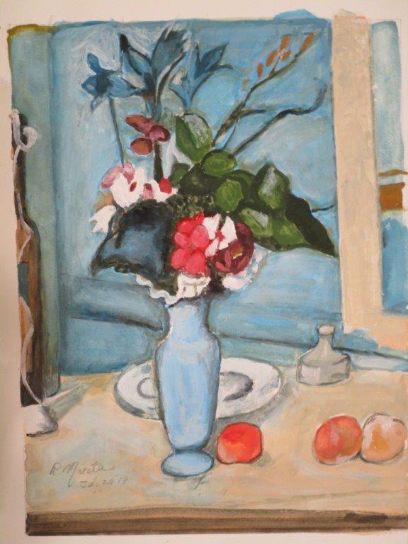 セザンヌ:青い花瓶