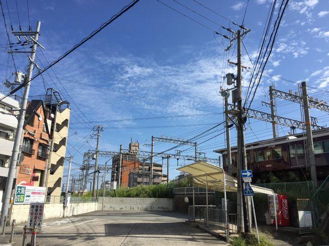 相川駅からの空