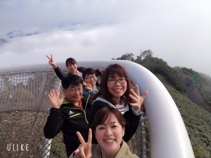 クラウドプール頂上での集合写真!