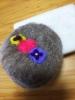 20190722 珠理の羊毛フェルト教室パンジーの刺繍
