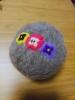 20190722 珠理の羊毛フェルト教室パンジーの刺繍2