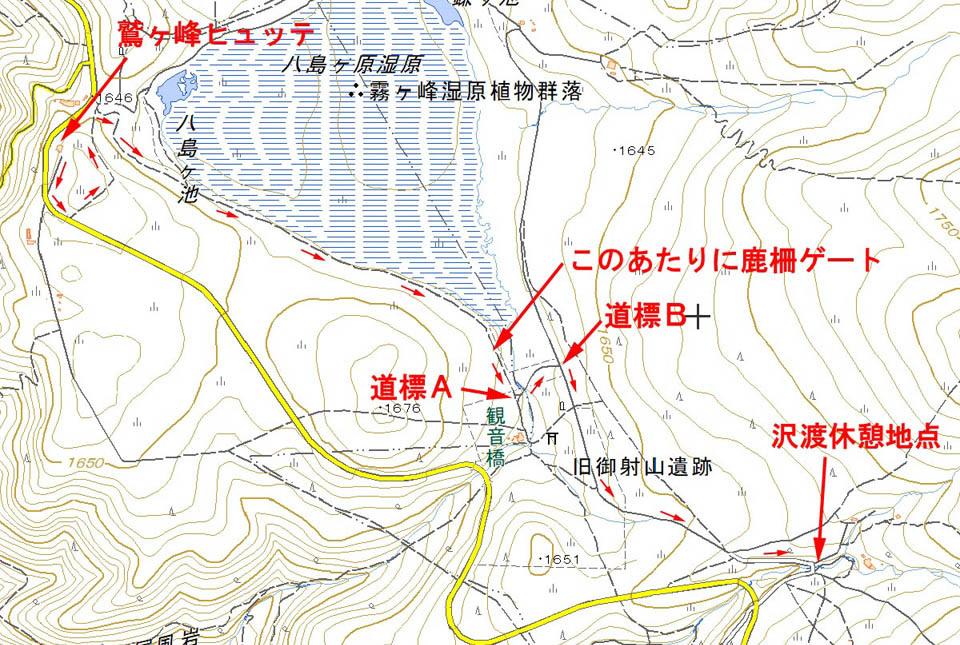 八島湿原地図 960×645