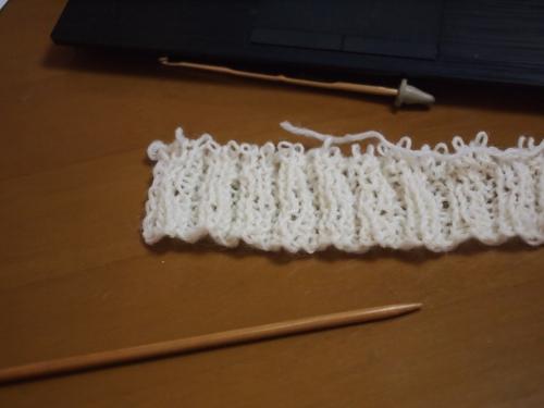 毛糸 編み物 初心者 練習中