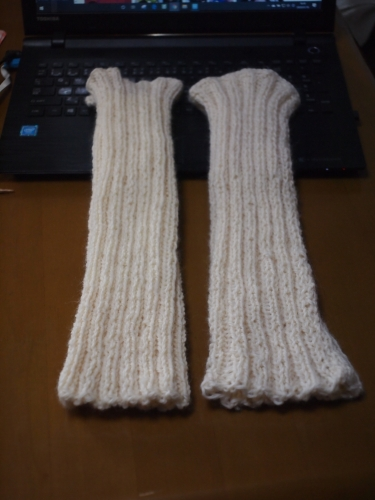 初心者 編み物 棒針編み レッグウォーマー