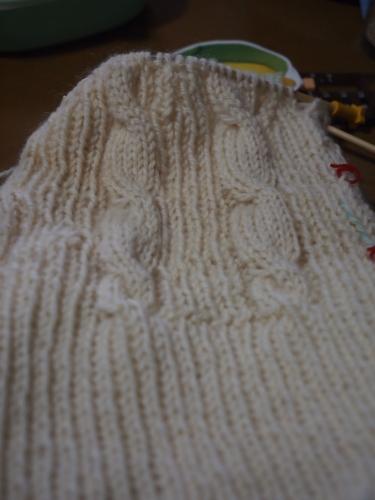縄編みの帽子 #初心者 #編み物 #棒針編み #Knit #sewing